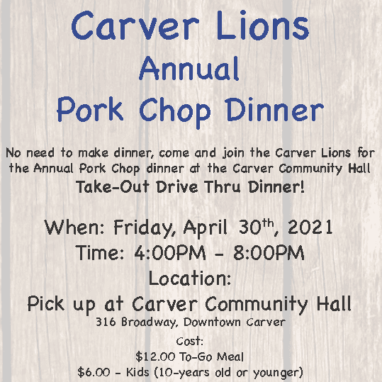Image of Pork Chop Dinner flyer
